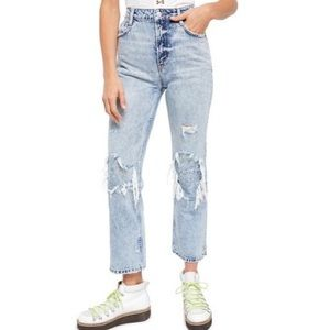 NEW Free People My Own Lane Jeans in Indigo Blue